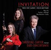 Invitation - Trios for Clarinet, Violin and Piano de Christine Carter