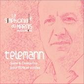 Telemann : Concertos & suite pour flûte et cordes de Hugo Reyne