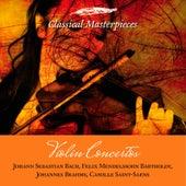 Violin Concertos: Bach, Mendelssohn-Bartholdy, Brahms, Saint-Saens (Classical Masterpieces) de Various Artists
