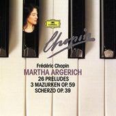 Chopin Compact Edition 1991: 24 Préludes Op. 28; Prélude Op. 45; Prélude Op. posth.; 3 Mazurkas Op. 59; Scherzo Op. 39 von Martha Argerich
