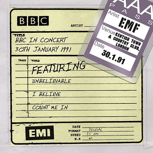 BBC In Concert (30th January 1991) by EMF