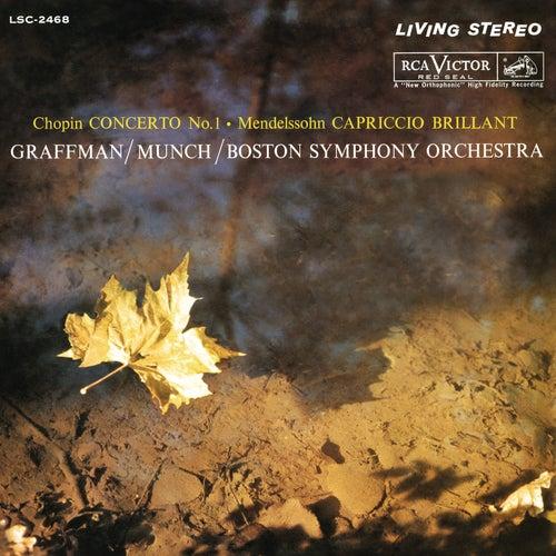 Chopin: Piano Concerto No. 1 in E Minor, Op. 11 / Mendelssohn: Capriccio brillant in B Minor for Piano and Orchestra, Op. 22 by Charles Munch