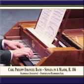 C.P.E. Bach: Keyboard Sonata in A Major, Wq. 55 No. 4, H. 186 von Slobodan Jovanović