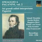Paganini, N.: Violin Music, Vol. 2 (Heifetz, Kreisler, Menuhin, Ricci, Vecsey) (1930-1950) von Various Artists