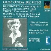 Beethoven, L. Van: Violin Concerto, Op. 61 / Viotti, G.B.: Violin Concerto No. 22 (Gioconda De Vito Edition, Vol. 3) (1948-1953) by Various Artists