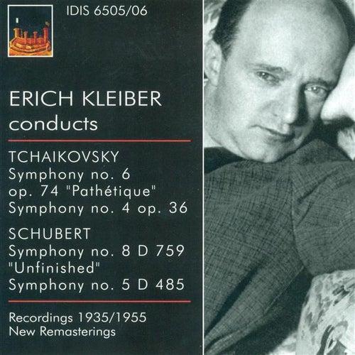 Tchaikovksy, P.I.: Symphonies Nos. 4 and 6 / Schubert, F.: Symphonies Nos. 5 and 8 (Kleiber) (1935, 1948, 1953, 1955) by Erich Kleiber