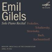 Emil Gilels: Solo Piano Recital. April 9, 1962 (Live) de Emil Gilels