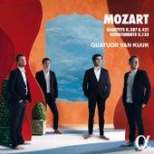 Mozart: Quartets K.387, K.421 & Divertimento K.138 von Quatuor Van Kuijk