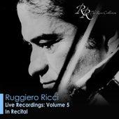Violin Recital: Ricci, Ruggiero - Beethoven, L. Van / Bartok, B. / Paganini, N. von Various Artists
