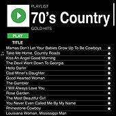 70's Country Gold Hits de Various Artists