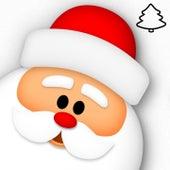 Christmas Tree & Santa Claus Drawing by Awa