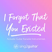I Forgot That You Existed (Acoustic Guitar Karaoke Instrumentals) von Sing2Guitar