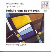 Beethoven: String Quartets Vol.3 Op.18 No. 3+4 by Alexander String Quartet