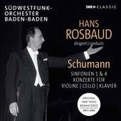 Schumann: Symphonies Nos. 1 & 4 and Concertos for Violin, Cello & Piano de SWR Sinfonieorchester Baden-Baden und Freiburg