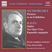 Mussorgsky: Pictures at an Exhibition / Ravel: Bolero (Koussevitzky) (1930-1947) von Sergey Koussevitzky