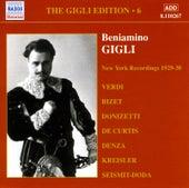 Gigli, Beniamino: Gigli Edition, Vol.  6: New York Recordings (1928-1930) de Various Artists