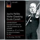Mendelssohn, Felix: Violin Concerto, Op. 64 / Mozart, W.A.: Piano Concerto No. 21 (Heifetz, Gieseking) (1954, 1955) von Various Artists
