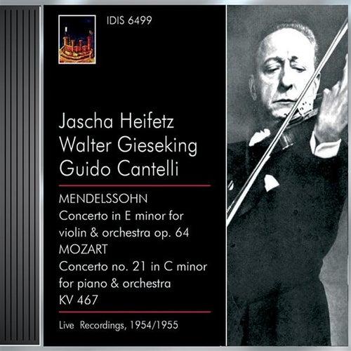 Mendelssohn, Felix: Violin Concerto, Op. 64 / Mozart, W.A.: Piano Concerto No. 21 (Heifetz, Gieseking) (1954, 1955) by Various Artists