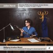 Mozart: Clarinet Concerto, Clarinet Quintet & Quintettsatz, K.Anh.91 by Julien Herve