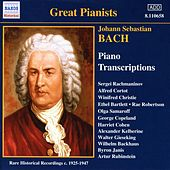 Bach, J.S.: Piano Transcriptions, Vol. 1 (Great Pianists) (1925-1947) by Various Artists