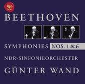 Beethoven: Symphonise Nos. 1 + 6 de Günter Wand