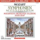 Mozart: Symphonien Nos. 12, 13, 14, K. 111a, K. 120 and K. 196 by Hans Graf