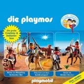 Die große Cowboy- und Indianer-Box, Folgen 21, 32, 35 (Das Original Playmobil Hörspiel) von Die Playmos