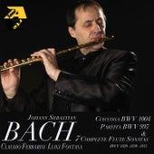 Johann Sebastian Bach: Ciaccona BWV 1004, Partita BWV 997 & 7 Complete Flute Sonatas BWV 1020-1030-1035 di Claudio Ferrarini