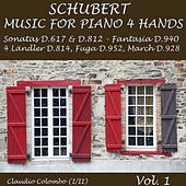 Schubert: Music for Piano Four Hands, Vol. 1 (Sonatas D. 617 & D. 812, Fantasia, Fuga, March) by Claudio Colombo