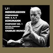 Felix Mendelssohn & Robert Schumann: Symphonies von Charles Munch