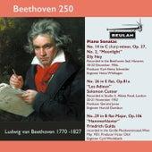 Beethoven 250 Piano Sonatas Nos. 14,26 and 29 von Solomon Cutner Elly Ney