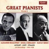 Great Pianists - Vol. 2, Brailowsky, Cherkassky, Serkin von Various Artists