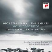 Stravinsky & Glass: Violin Concertos by David Nebel