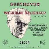 """Beethoven: Piano Sonatas Nos. 23 """"Appassionata"""", 24 """"A Thérèse"""", 25 & 26 """"Les Adieux"""" (Mono Version) de Wilhelm Backhaus"""