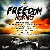 Freedom Horns von Morgan Heritage, Black Uhuru, Cali P, Capleton, Randy Valentine, Chukki Starr, Exco Levi, Donstrumental, Seani B