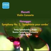 Menotti, G.C.: Violin Concerto in A Minor / Honegger, A.: Symphony No. 2,