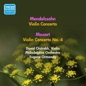 Mendelssohn, F.: Violin Concerto in E Minor / Mozart, W.A.: Violin Concerto No. 4 (Oistrakh) (1955) by David Oistrakh