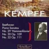 Ludwig van Beethoven : Piano Sonatas No. 29 Hammerklavier, No. 30 Op. 109, No. 32 Op. 111 by Wilhelm Kempff