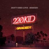 Don't Need Love (Remixes) de 220 KID