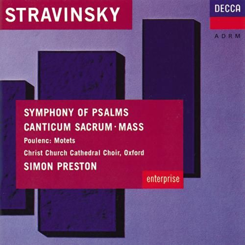 Stravinsky: Symphony of Psalms; Mass / Poulenc: Easter Motets by Various Artists