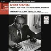 Krenek: Sestina & Lamentatio Jeremiae Prophetae, Op. 93 (Remastered) de Various Artists