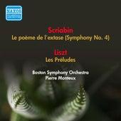 Scriabin, A.: Poeme De L'Extase (La) / Liszt, F.: Les Preludes (Boston Symphony, Monteux) (1952) de Various Artists