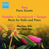 Berg: Piano Sonata - Shostakovich: 3 Fantastic Dances - Prokofiev: PROKOFIEV, S.: The Winter Fairy (1951-1953) von Glenn Gould