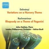Dohnanyi, E.: Variations On A Nursery Theme / Rachmaninov, S.: Rhapsody On A Theme of Paganini (Katchen, London Philharmonic, Boult) (1954) by Adrian Boult