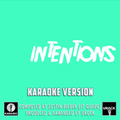 Intentions Originally Performed By Justin Bieber And Quavo (Karaoke Version) de Urock
