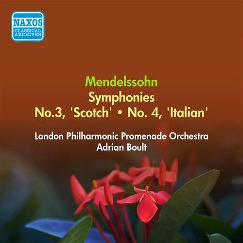 Mendelssohn, F.: Symphonies Nos. 3, 'Scottish' and 4, 'Italian' (London Philharmonic Promenade, Boult) (1955) by Adrian Boult