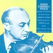 Bloch: Violin Sonata No. 1 / Porter, Q.: Violin Sonata No. 2 / Still: Ennanga / Danzas De Panama (Kaufman) (1953-1956) by Various Artists