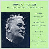 Dvorak: Symphony No. 8 / Mendelssohn: The Hebrides / Hindemith: Symphonia Serena (Walter) (1948) de Bruno Walter