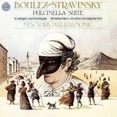 Stravinsky: Pulcinella Suite, Scherzo fantastique, Op. 3 & Symphonies d'instruments à vent by Pierre Boulez