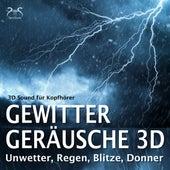 Gewitter Geräusche 3D, Unwetter, Regen, Blitze, Donner - 3D Sound für Kopfhörer von Torsten Abrolat